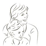 Woman and her son Stock Photo