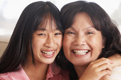 Woman With Her Teenage Daughter Stock Photography