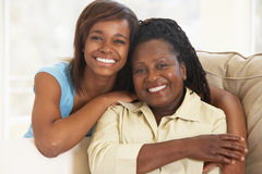 Woman With Her Teenage Daughter Royalty Free Stock Photo