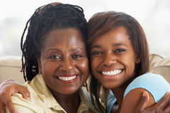 Woman With Her Teenage Daughter Stock Images