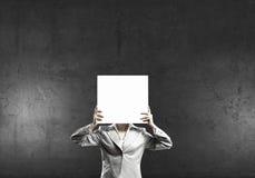 Woman hiding her face Stock Photos