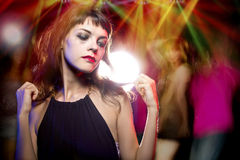 Woman High on Drugs at a Nightclub Stock Photo