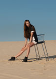 Woman in high fashion editorial concept. Stock Photos