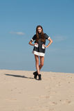 Woman in high fashion editorial concept. Stock Photography