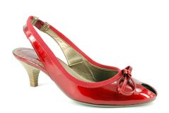 Woman high heel red shoe Royalty Free Stock Photography
