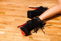 Woman in high heel shoes Stock Image