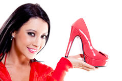 Woman with high-heels Royalty Free Stock Photography