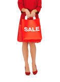 Woman on high heels holding shopping bags Royalty Free Stock Photo