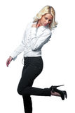 Woman with high heels shoes Stock Photos