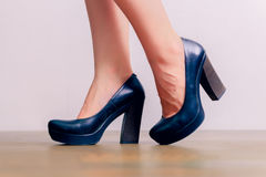 Woman in high heels. Young woman in high heels Royalty Free Stock Photography