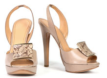 Woman high shoes Royalty Free Stock Photo