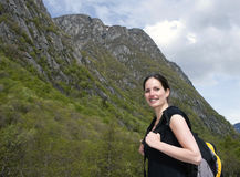Woman hiker 2 Royalty Free Stock Images