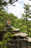 Woman hiker Stock Images