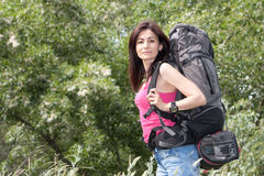 Woman hiker Royalty Free Stock Image
