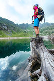Woman hiker Stock Image