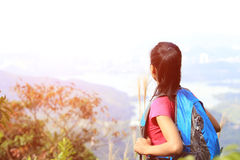 woman hiker looking at the view Stock Photography