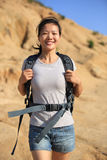 Woman hiker outdoor Royalty Free Stock Image