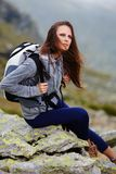 Woman hiker resting Stock Photography