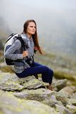 Woman hiker resting Royalty Free Stock Images