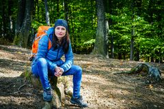 Female hiker Royalty Free Stock Image