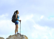 Woman hiker Stock Photo