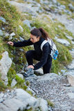 Woman hiker on a trail Royalty Free Stock Photo