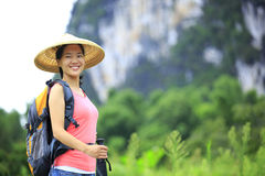 Woman hiker Stock Photography