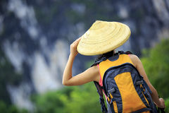 Woman hiker Royalty Free Stock Images