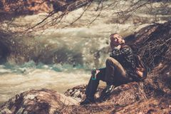 Woman hiker Royalty Free Stock Photography
