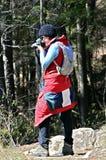 Woman Hikier Taking Photo royalty free stock photography