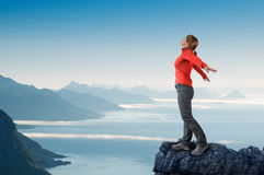 Woman hiking Royalty Free Stock Image
