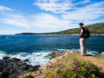 Hiking in Acadia National Park Royalty Free Stock Photography