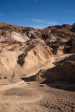 Woman Hiking Artist's Point Death Valley Badlands California Stock Image