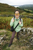 Woman hiking in Lake District Royalty Free Stock Photo