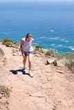 Woman hiking On Lions Head Stock Photography
