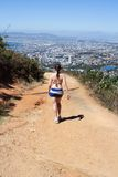 Woman hiking On Lions Head Royalty Free Stock Images