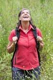 Woman hiking Royalty Free Stock Photo
