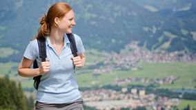 Woman Hiking in Summer Stock Photography
