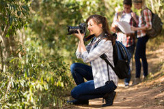 Woman hiking trip Royalty Free Stock Images