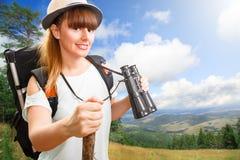 Woman hikking Royalty Free Stock Photos