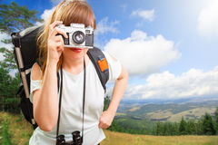 Woman hikking Royalty Free Stock Photography