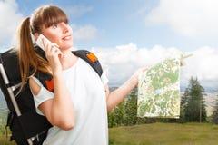 Woman hikking Stock Image
