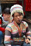 Woman of the hill tribes in traditional costume, Xingping, China Stock Images
