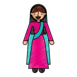 Woman of the hindu culture. Vector illustration design Royalty Free Stock Photos