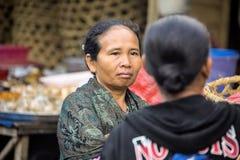 Woman Hindu, village Toyopakeh, Nusa Penida June 21. 2015 Indonesia Stock Photo