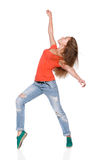 Woman hip hop dancer over white background Stock Photo