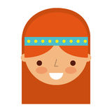 Woman hippie lifestyle character. Vector illustration design Stock Photo