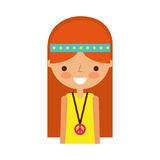 Woman hippie lifestyle character. Vector illustration design Royalty Free Stock Photography