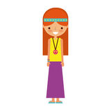 Woman hippie lifestyle character. Vector illustration design Royalty Free Stock Photo