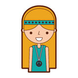 Woman hippie lifestyle character. Vector illustration design Royalty Free Stock Image
